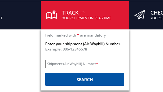 Delta Airlines Cargo Tracking